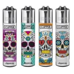 Mexican Skulls Clipper Lighters – 4 Pack thumbnail