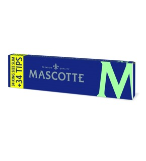 Mascotte Kingsize Slim Rolling Papers With Tips